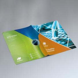 Triangle Style Presentation Folder With Orange Green
