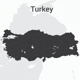 Turkey Map Vector Design