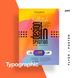 Typographic Creative Event Flyer / Poster