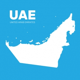 United Arab Emirates Map Vector Design