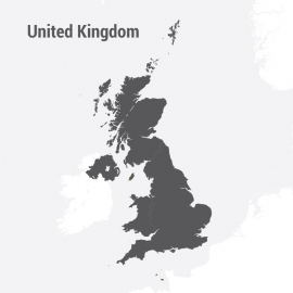 United Kingdom Map Vector Design