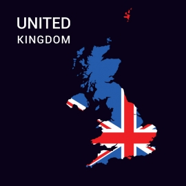 United Kingom Map Vector Design