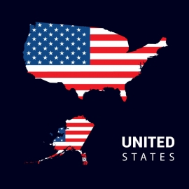 United States Map Vector Design