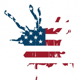 USA Flag Vector with Grungy Effect