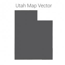 Utah Map Dark Vector Design