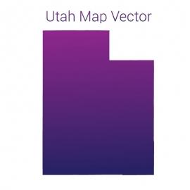 Utah Map Gradient Color Vector Design