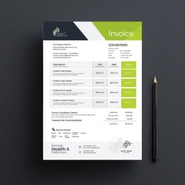 Vagetable Farm Business Invoice
