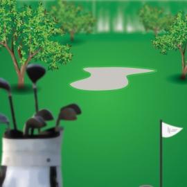 Vector Of Golf Field