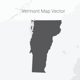Vermont Map Dark Vector Design