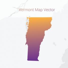 Vermont Map Gradient Color Vector Design