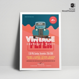 Vintage Style Poster & Flyer