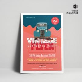 Vintage Style Poster & Flyer
