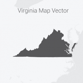 Virginia Map Dark Vector Design