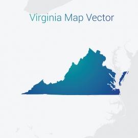 Virginia Map Gradient Color Vector Design
