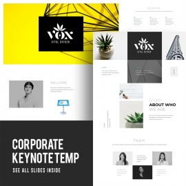 Vox Creative minimal keynote template