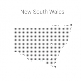 Wales Map By Dots Vector Design