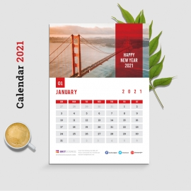 Wall Calendar 2021 - Happy New Year Planne
