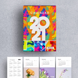 Wall Calendar 2021 - New Year Planner