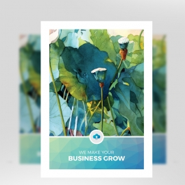 Water Color Business Flyer