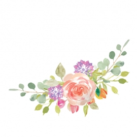 Water Color Flower Vector Design