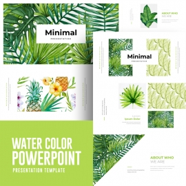 Water Color Powerpoint Presentation