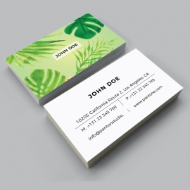 Watercolor Business Card Design Template