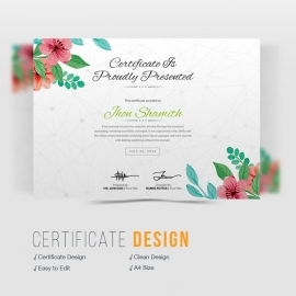 Watercolor Certificate Design