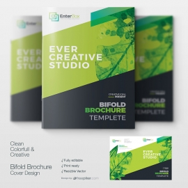 Watercolor Corporate Clean Booklet Cover Design