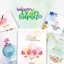 Watercolor Creator Graphics Pack
