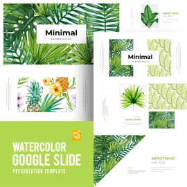 Watercolor Google Slide Template