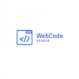 Web Code Logo with Coding Tag and Web Browser Symbol