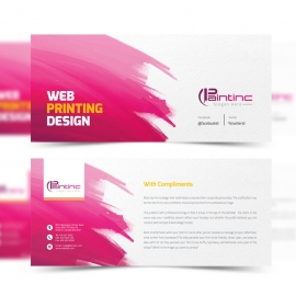 Web Paintinc Compliment Card