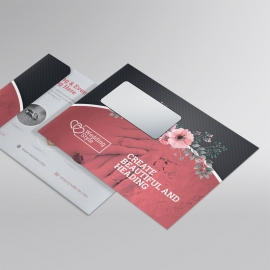 Wedding & Events B5_Envelope With Red Black Accent