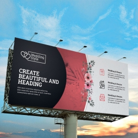 Wedding & Events Billboard Banner With Red Black Accent