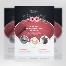 Wedding & Events Flyer With Circle Oval