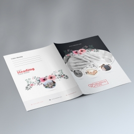 Wedding & Events Presentation Folder With Circle Oval