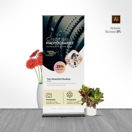 Wedding Photography Rollup Banner