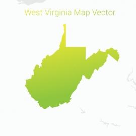 West Virginia Map By Gradient Color Vector Design