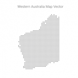 Western Australia Map By Dots Vector Design