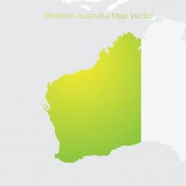 Western Australia Map By Gradient Color Vector Design