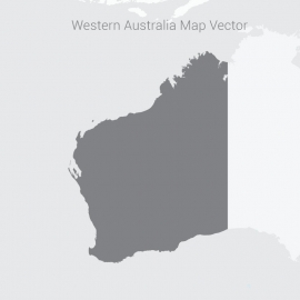 Western Australia Map Dark Vector Design