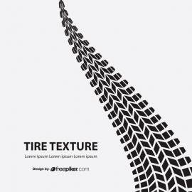 White Background With Black Tire Texture And Sample Text