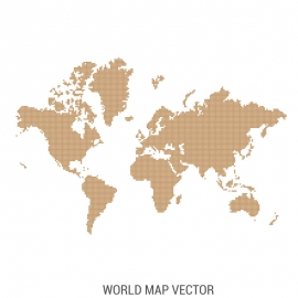 World Map By Dot's