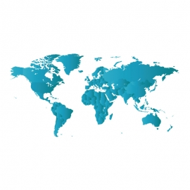 World Map By Gradient Color