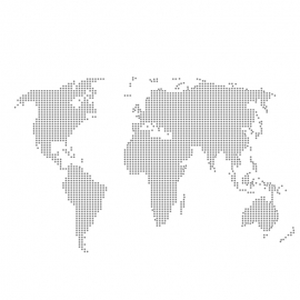 World Map By Many Dots