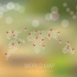 World Map by Poligonal Shape