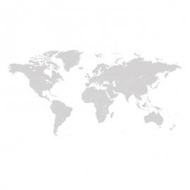 World Map By Stroke