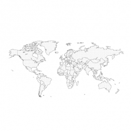 World Map By Stroke And Dot's