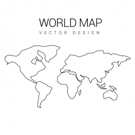 World Map Hand Paint by Stroke