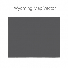 Wyoming Map Dark Vector Design